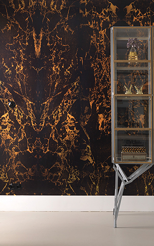 MATERIALS WALLPAPER by Piet Hein Eek BLACK METALLIC MARBLE WALLPAPER / PHM-70&PHM-71 (2本セット)