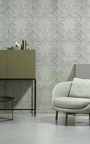 NLXL MONOCHROME WALLPAPER MOULDED STAR WALLPAPER BY NADA DEBS NDE-02