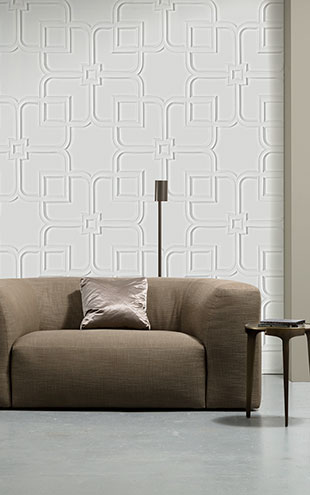 NLXL MONOCHROME WALLPAPER ORNAMENT WALLPAPER BY PIET BOON PIB-12