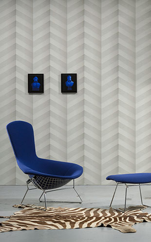 NLXL MONOCHROME WALLPAPER GRAPHIC CHEVRON WALLPAPER BY STUDIO BOOT STB-01