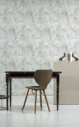 NLXL MONOCHROME WALLPAPER PAPER FLOWERS WALLPAPER BY STUDIO BOOT STB-02