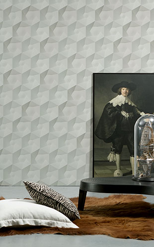NLXL MONOCHROME WALLPAPER HEXA CERAMICS WALLPAPER BY STUDIO RODERICK VOS VOS-01