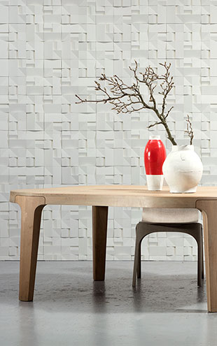 NLXL MONOCHROME WALLPAPER HOUSE CERAMICS WALLPAPER BY STUDIO RODERICK VOS VOS-02