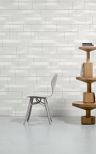 NLXL MONOCHROME WALLPAPER WAVE CERAMICS WALLPAPER BY STUDIO RODERICK VOS VOS-03