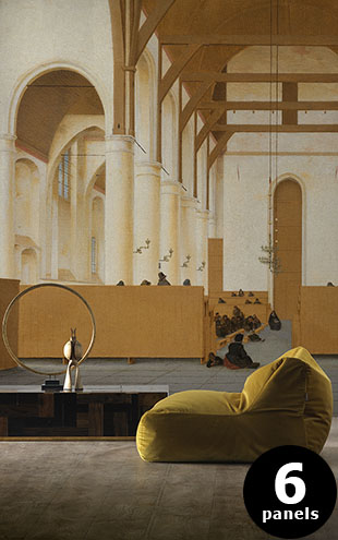 NLXL RIJKSMUSEUM WALLPAPER PRESENTED BY PIET HEIN EEK SAINT-ODULPHUS CHURCH RKS-02 (6パネル)