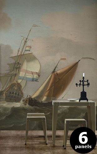 NLXL RIJKSMUSEUM WALLPAPER PRESENTED BY PIET HEIN EEK ROUGH SEA RKS-05 (6パネル)