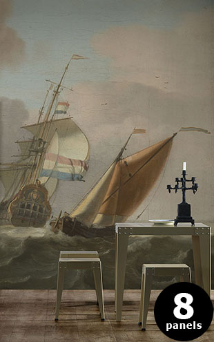 NLXL RIJKSMUSEUM WALLPAPER PRESENTED BY PIET HEIN EEK ROUGH SEA RKS-05 (Full size)