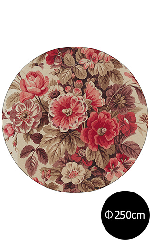 NLXL RUGS / Mr & Mrs Vintage / Bouquet Rouge Rug Wool Round RMRV-04WSR