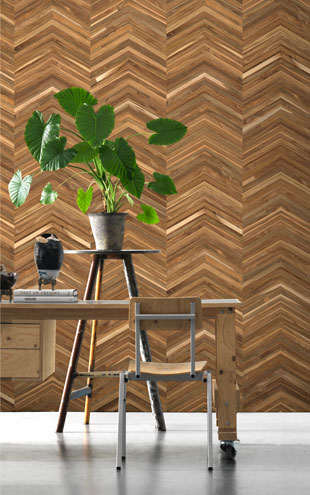 TIMBER STRIPS WALLPAPER by PIET HEIN EEK / TIM-06
