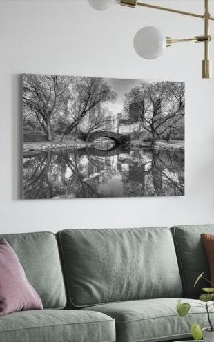 【Canvas Print】PHOTOWALL / Bridge in Central Park (e1593)