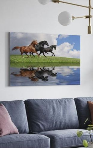 【Canvas Print】PHOTOWALL / Gallop Horses (e19102)