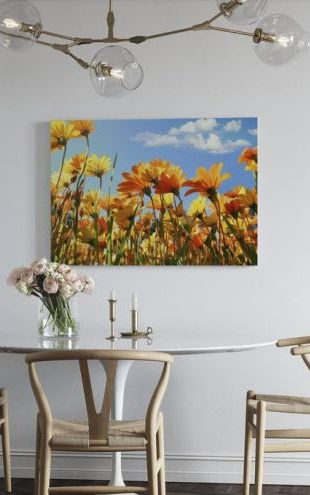 【Canvas Print】PHOTOWALL / Spring Orange and Yellow Wildflowers (e19114)