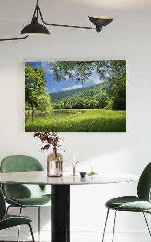 【Canvas Print】PHOTOWALL / Summer Landscape with River (e19156)
