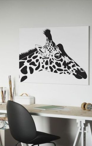 【Canvas Print】PHOTOWALL / Giraffe (e1962)