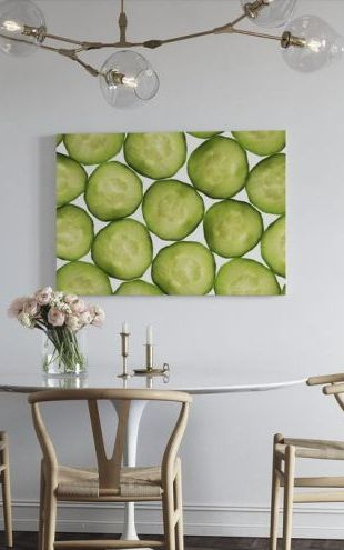 【Canvas Print】PHOTOWALL / Slices of Cucumber (e19243)