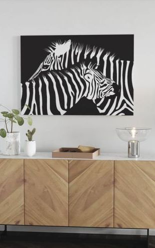 【Canvas Print】PHOTOWALL / Zebras (e6298)