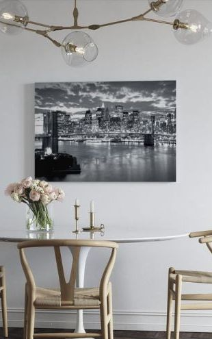 【Canvas Print】PHOTOWALL / Brooklyn Bridge Cloudy Day (e9004)