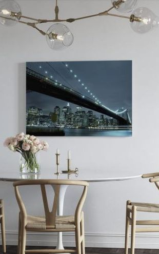 【Canvas Print】PHOTOWALL / Brooklyn Bridge at Night (e9015)