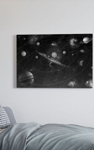 【Canvas Print】PHOTOWALL / Solar System - b/w (e10035)