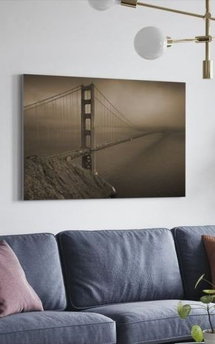 【Canvas Print】PHOTOWALL / Golden Gate - Sepia (e10045)