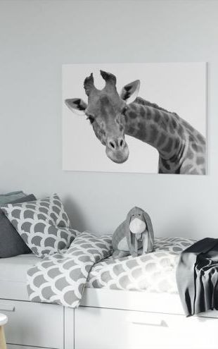 【Canvas Print】PHOTOWALL / Giraffe (e10076)