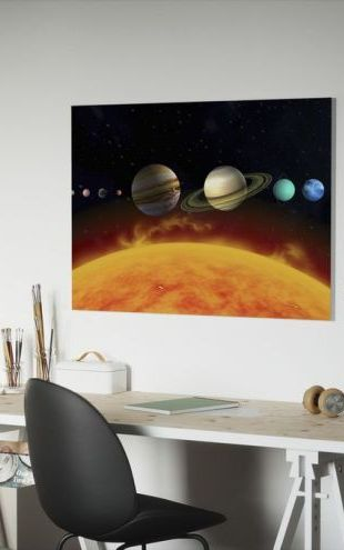 【Canvas Print】PHOTOWALL / Sun and Planets (e19313)
