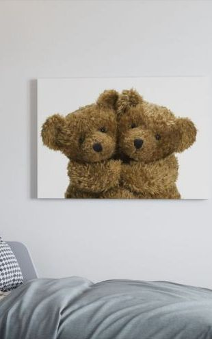 【Canvas Print】PHOTOWALL / Cuddling Teddy Bears (e19690)