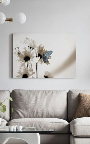 【Canvas Print】PHOTOWALL / Julia Butterfly - Blue (e19888)