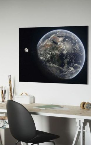 【Canvas Print】PHOTOWALL / Blue Dot - Mirrored (e20106)