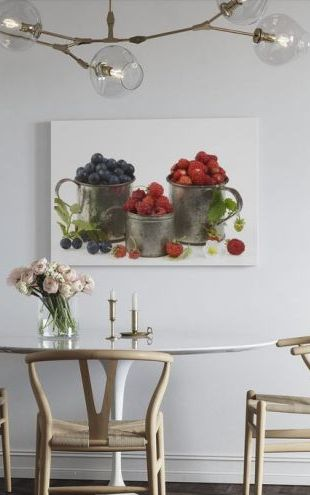 【Canvas Print】PHOTOWALL / Blueberries Rasberries and Strawberries (e20095)