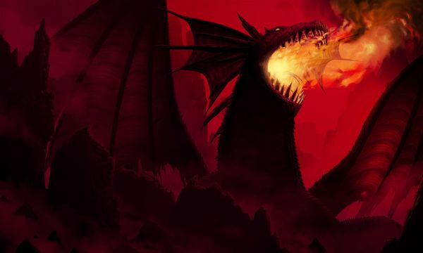 【Canvas Print】PHOTOWALL / Dragon in Red (e20373)