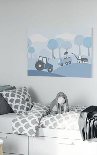 【Canvas Print】PHOTOWALL / Countryside - Blue (e20603)