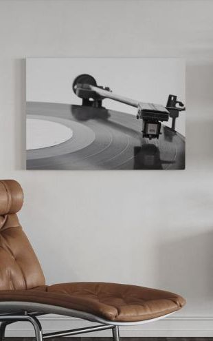 【Canvas Print】PHOTOWALL / Old Vinyl Player (e21120)