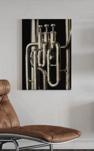 【Canvas Print】PHOTOWALL / Brass Horn - Tuba (e21333)