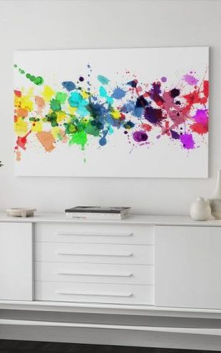 【Canvas Print】PHOTOWALL / Watercolour Rainbow (e21934)
