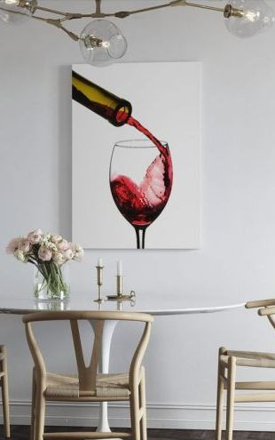 【Canvas Print】PHOTOWALL / Red Wine Pour (e21965)