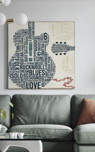 【Canvas Print】PHOTOWALL / Type Guitar Square II (e22268)