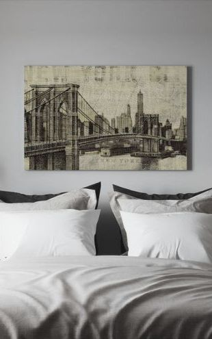 【Canvas Print】PHOTOWALL / Vintage New York Brooklyn Bridge (e22272)