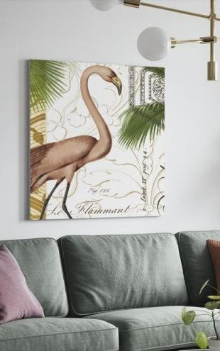 【Canvas Print】PHOTOWALL / Flamingo Curiosity (e22289)