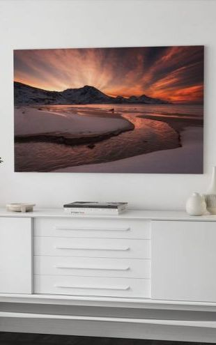 【Canvas Print】PHOTOWALL / Golden Sunset in Norway (e22455)