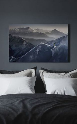【Canvas Print】PHOTOWALL / Skier on Mountain Top (e22481)
