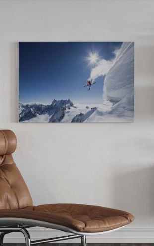 【Canvas Print】PHOTOWALL / Extreme Skiing (e22504)