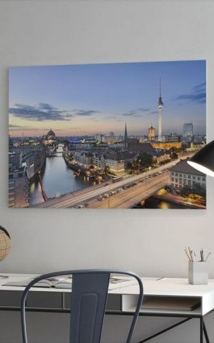【Canvas Print】PHOTOWALL / Berlin Skyline Panorama (e22806)