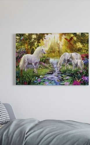 【Canvas Print】PHOTOWALL / The Castle Unicorn Garden (e22892)