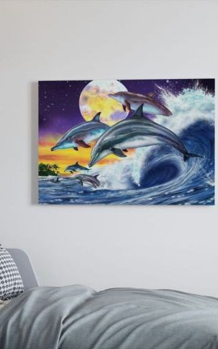 【Canvas Print】PHOTOWALL / Dolphins (e23010)