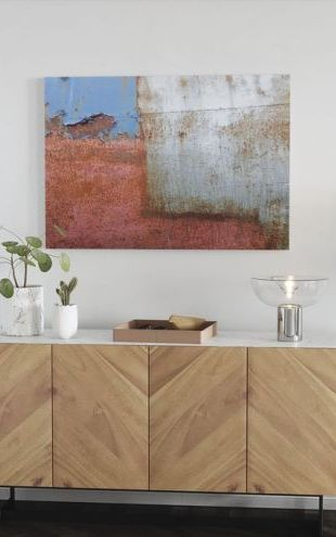 【Canvas Print】PHOTOWALL / Rusty Metal Wall (e23048)