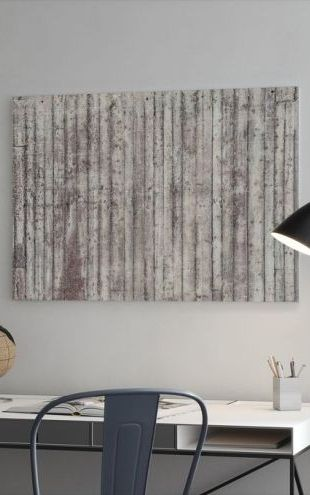 【Canvas Print】PHOTOWALL / Concrete Wooden Wall (e23060)