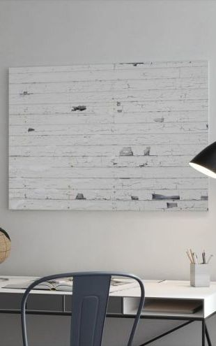 【Canvas Print】PHOTOWALL / White Woodenwall with Snow (e23125)