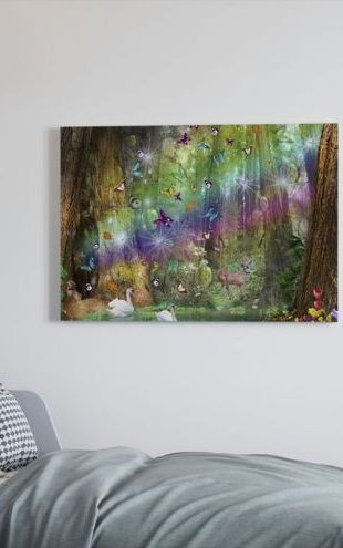 【Canvas Print】PHOTOWALL / Red Wood Paradise (e23139)