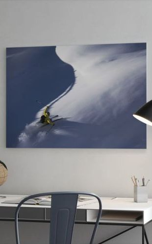 【Canvas Print】PHOTOWALL / Powder Snow Skiing (e23211)